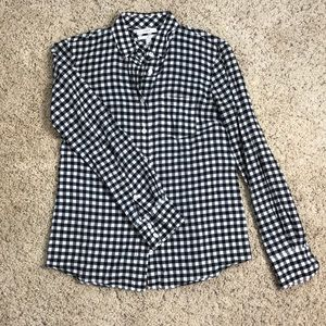 JCrew boy fit black checkered shirt size 00